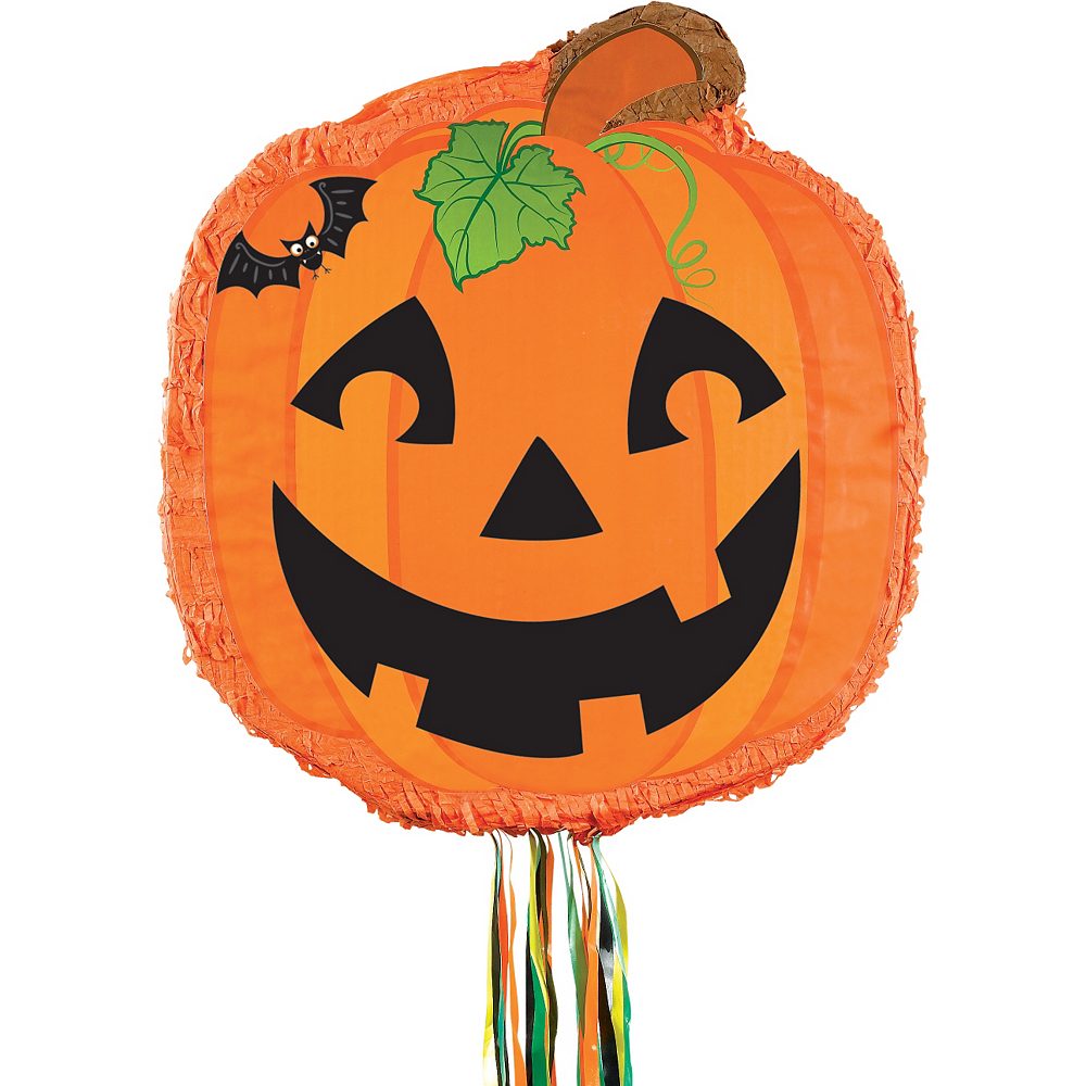 Pull String Jack-o'-Lantern Personalized Pinata Image #2