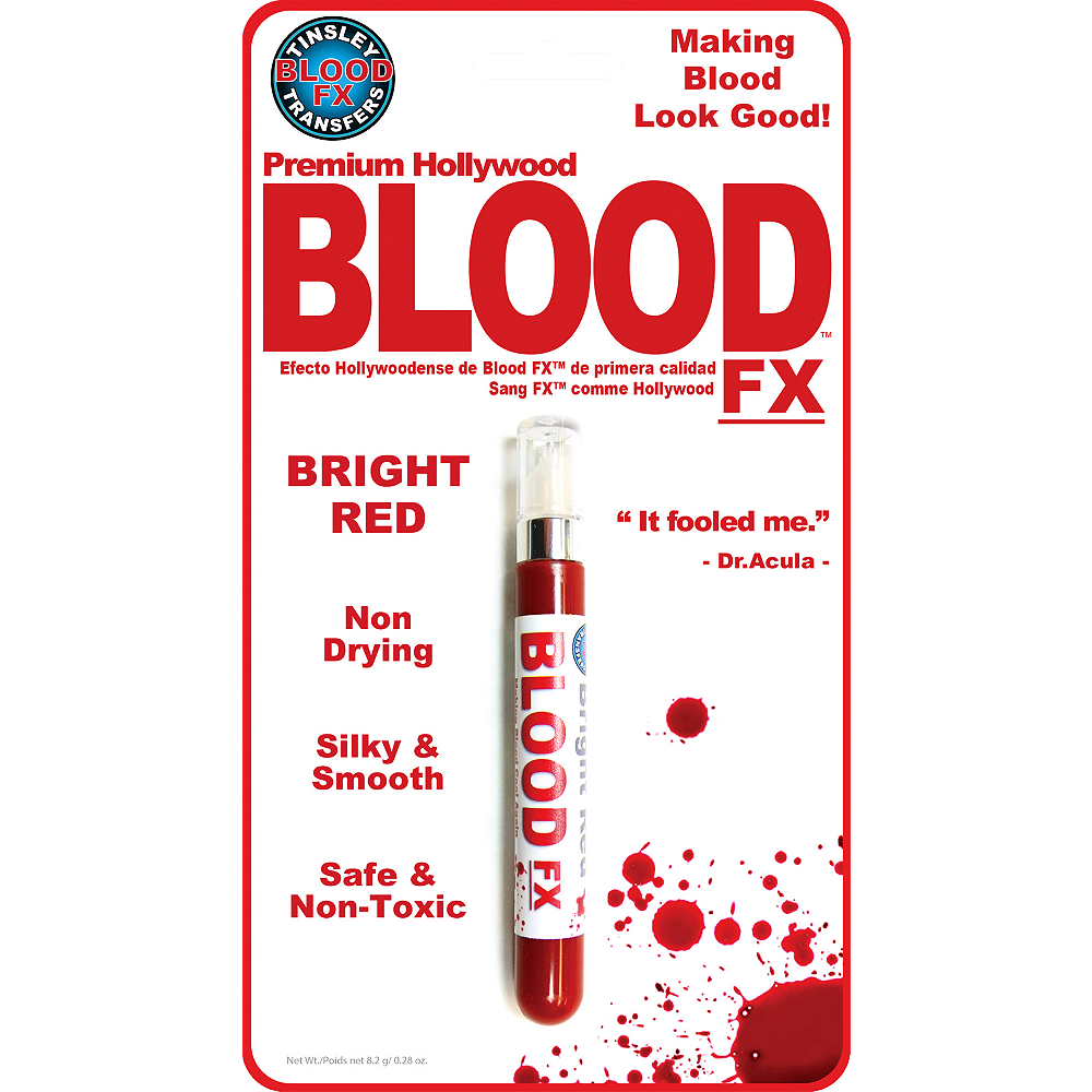 Fake Blood Tube- Tinsley Transfers Image #2