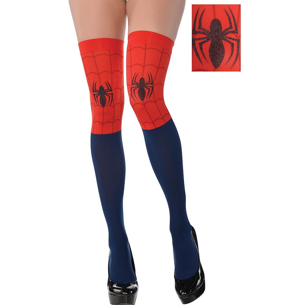 8e6dcdd9c03 Spider-Girl Thigh High Socks Image  1