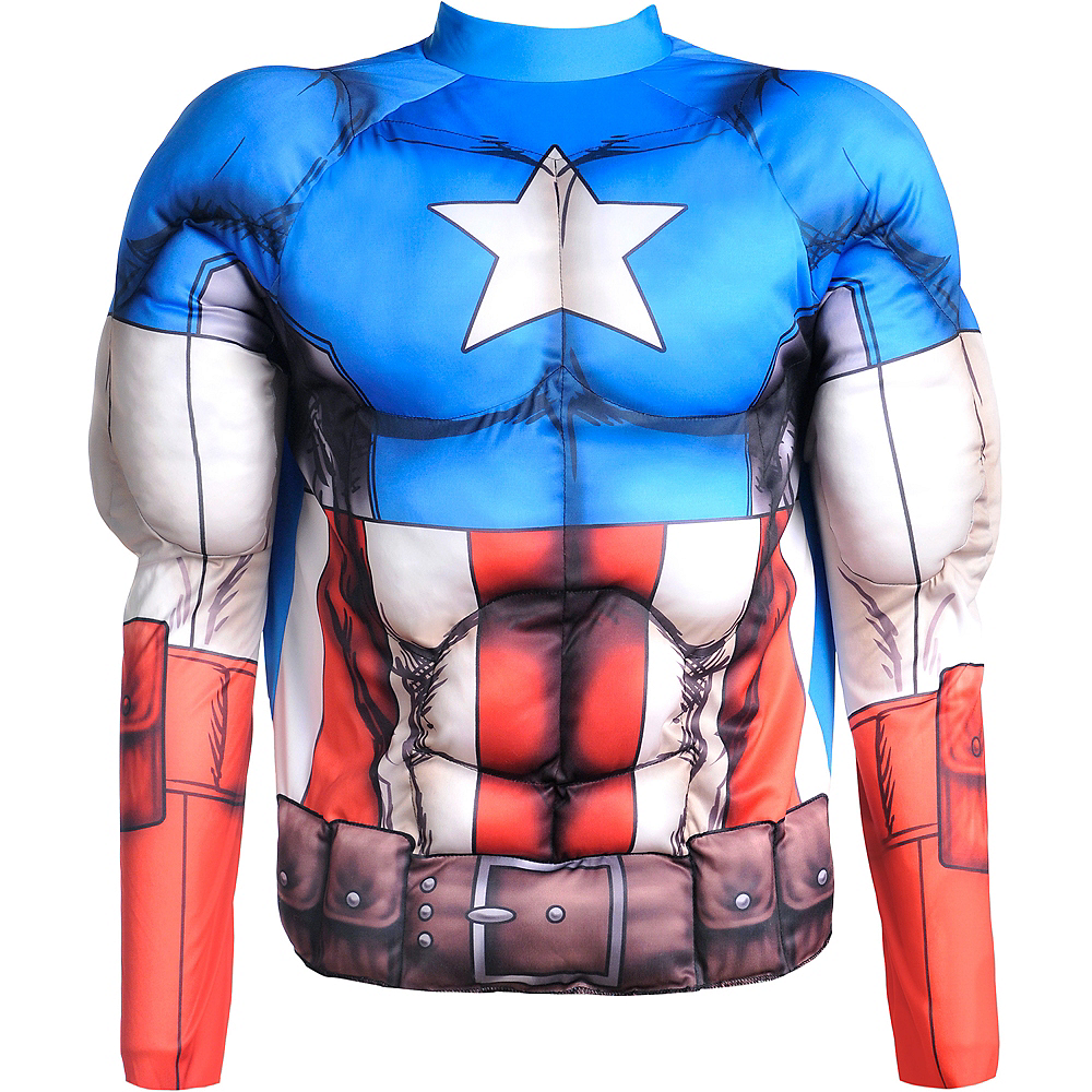 Captain America Muscle Shirt Image #2
