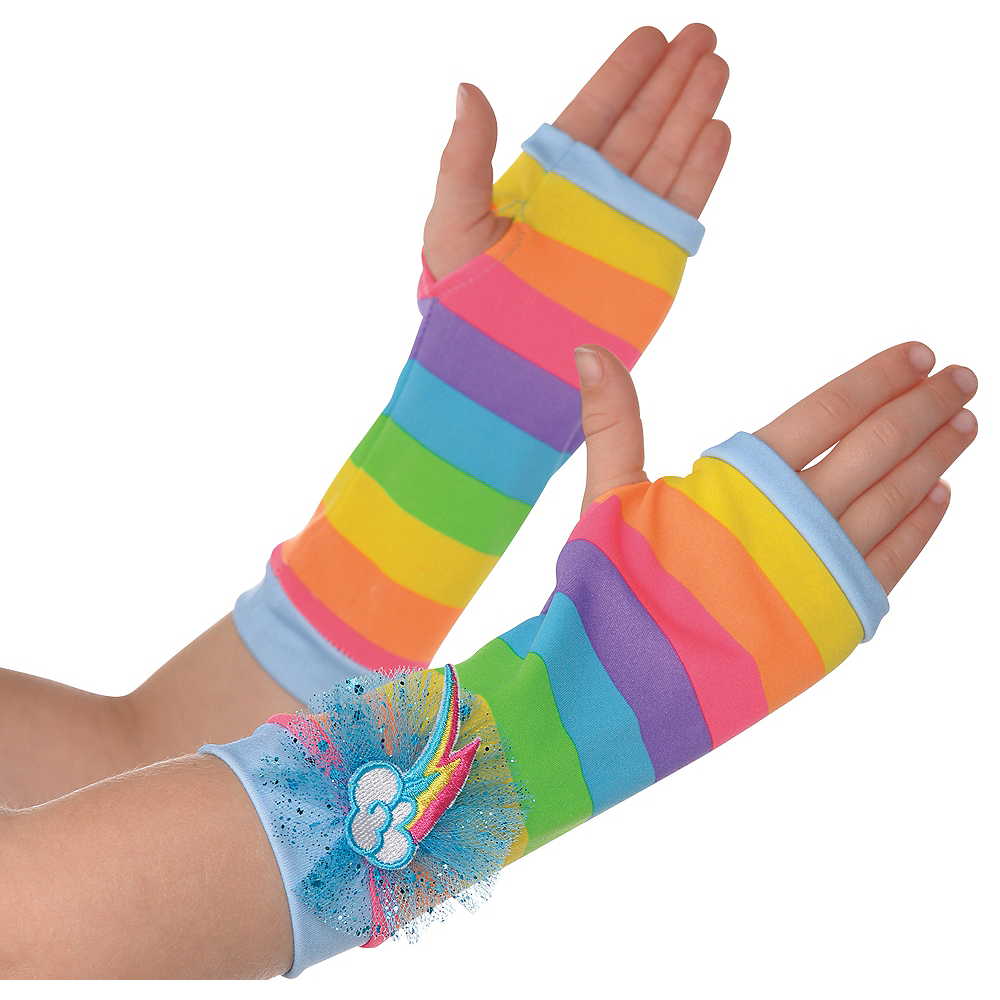 Child Rainbow Dash Arm Warmers - My Little Pony Image #1