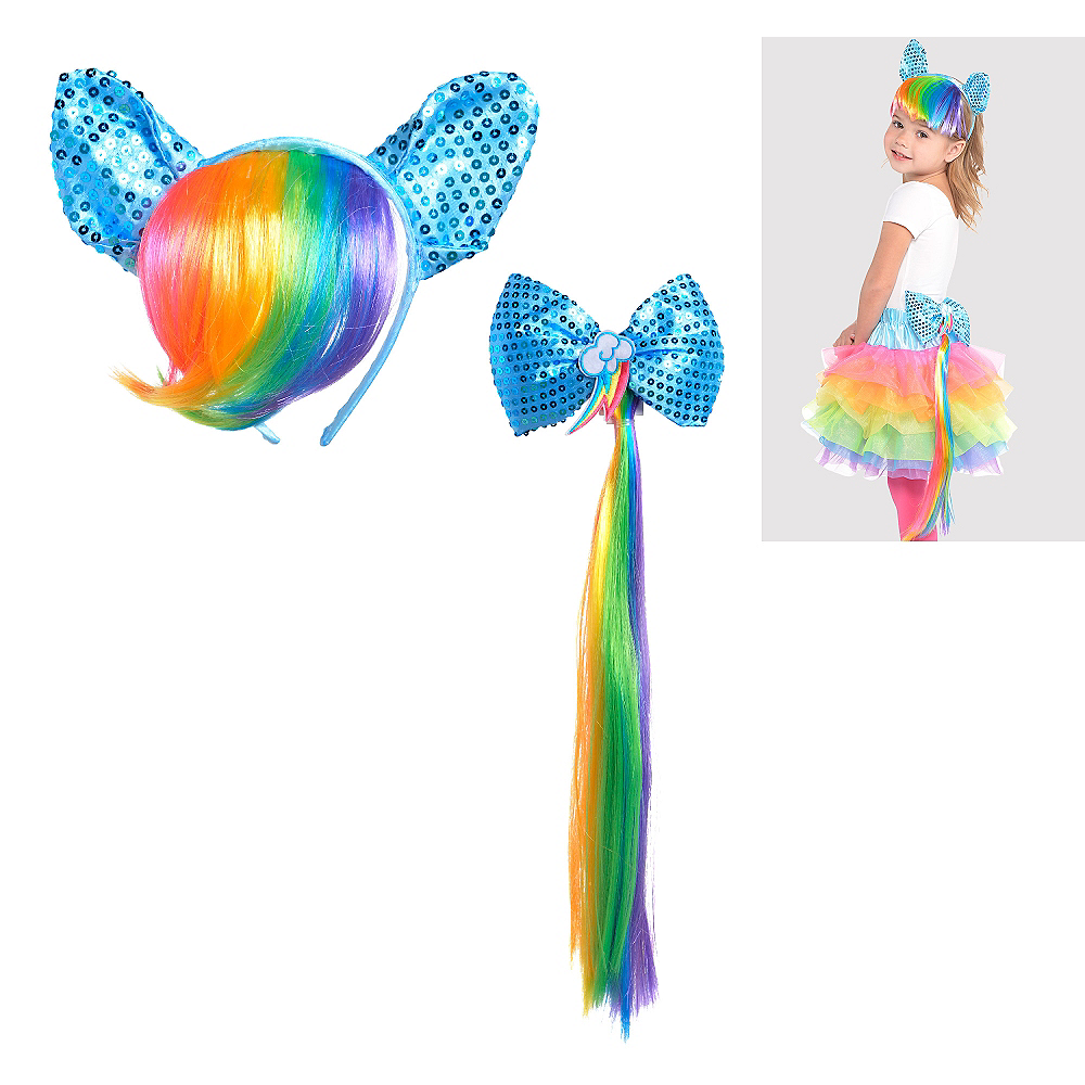 Child Rainbow Dash Costume Accessory Kit 2pc - My Little Pony Image #1