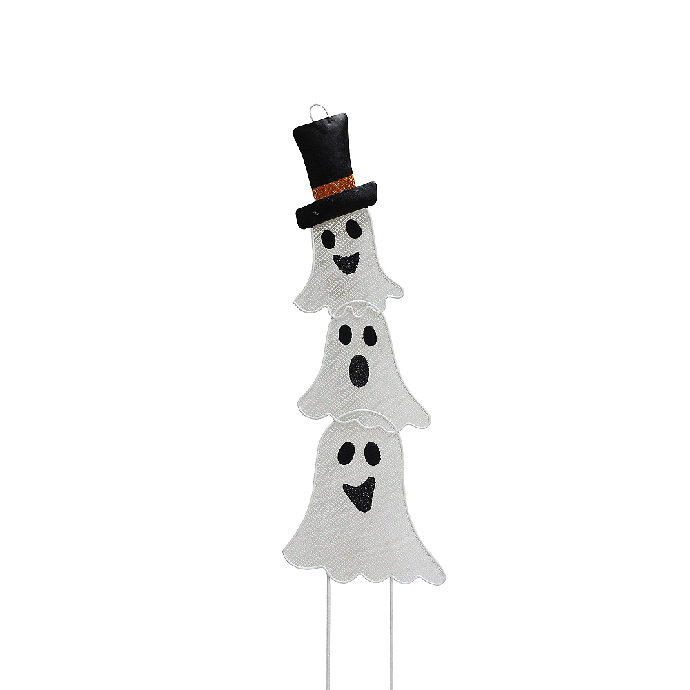 Stacked Ghosts Yard Stake Image #1