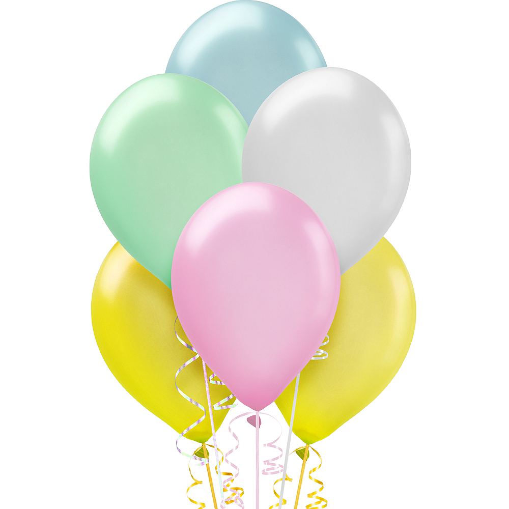 Assorted Pastel Pearl Balloons 72ct, 12in Image #1