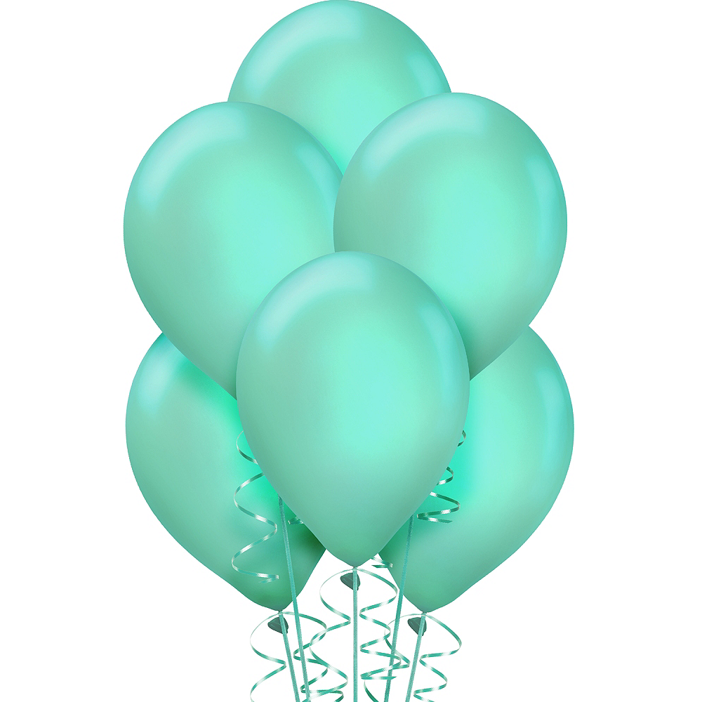 Robin's Egg Blue Pearl Balloons 72ct Image #1
