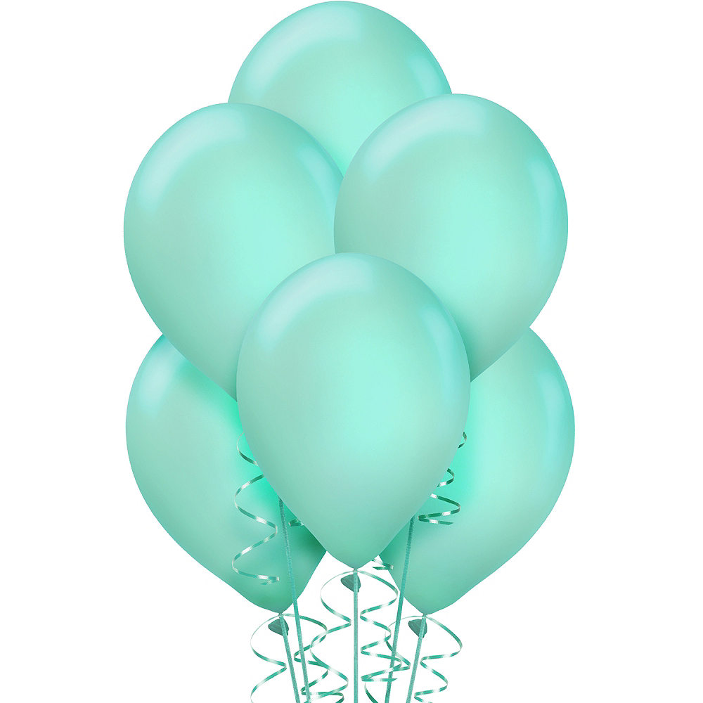 Robin's Egg Blue Balloons 15ct, 12in Image #1