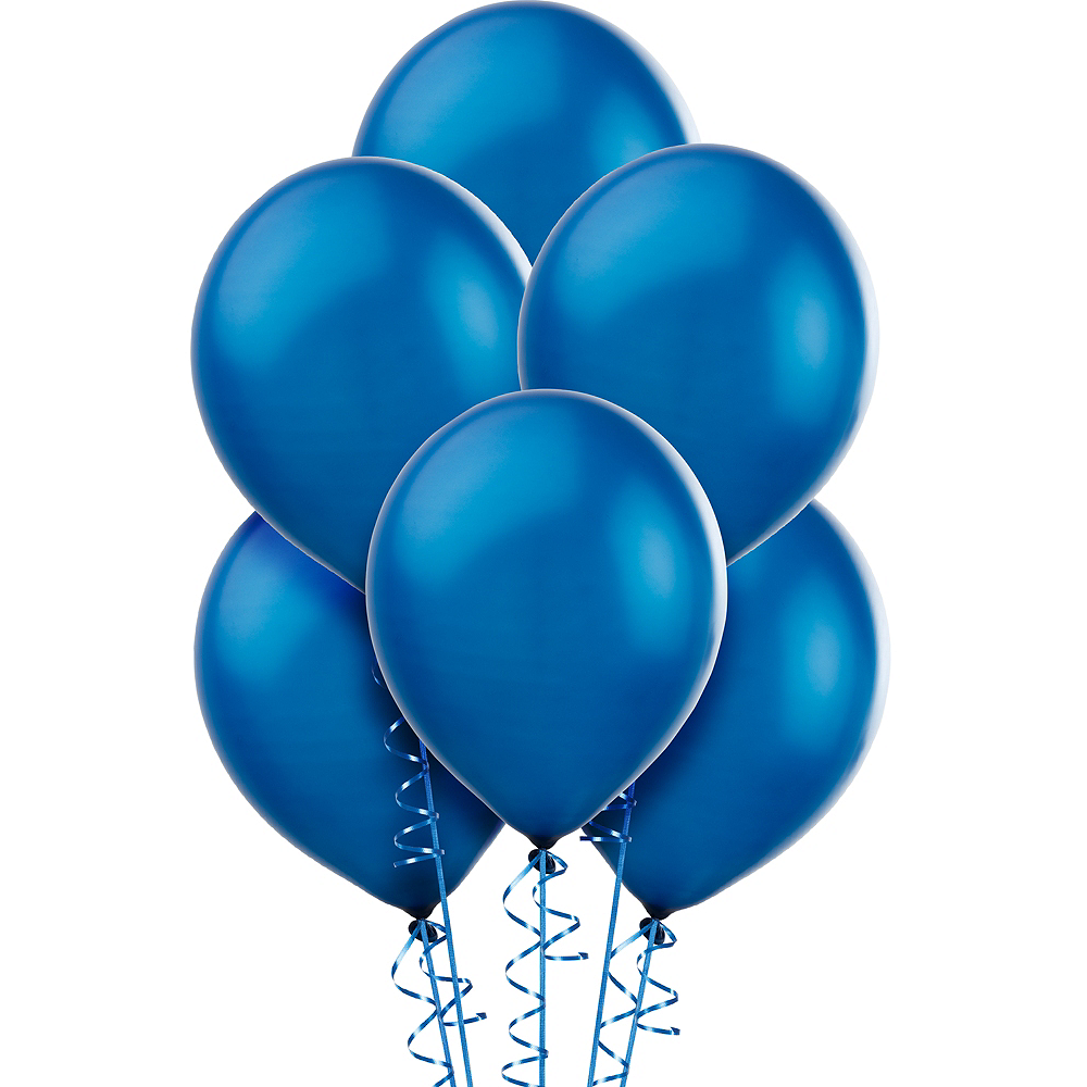 Royal Blue Pearl Balloons 15ct, 12in Image #1