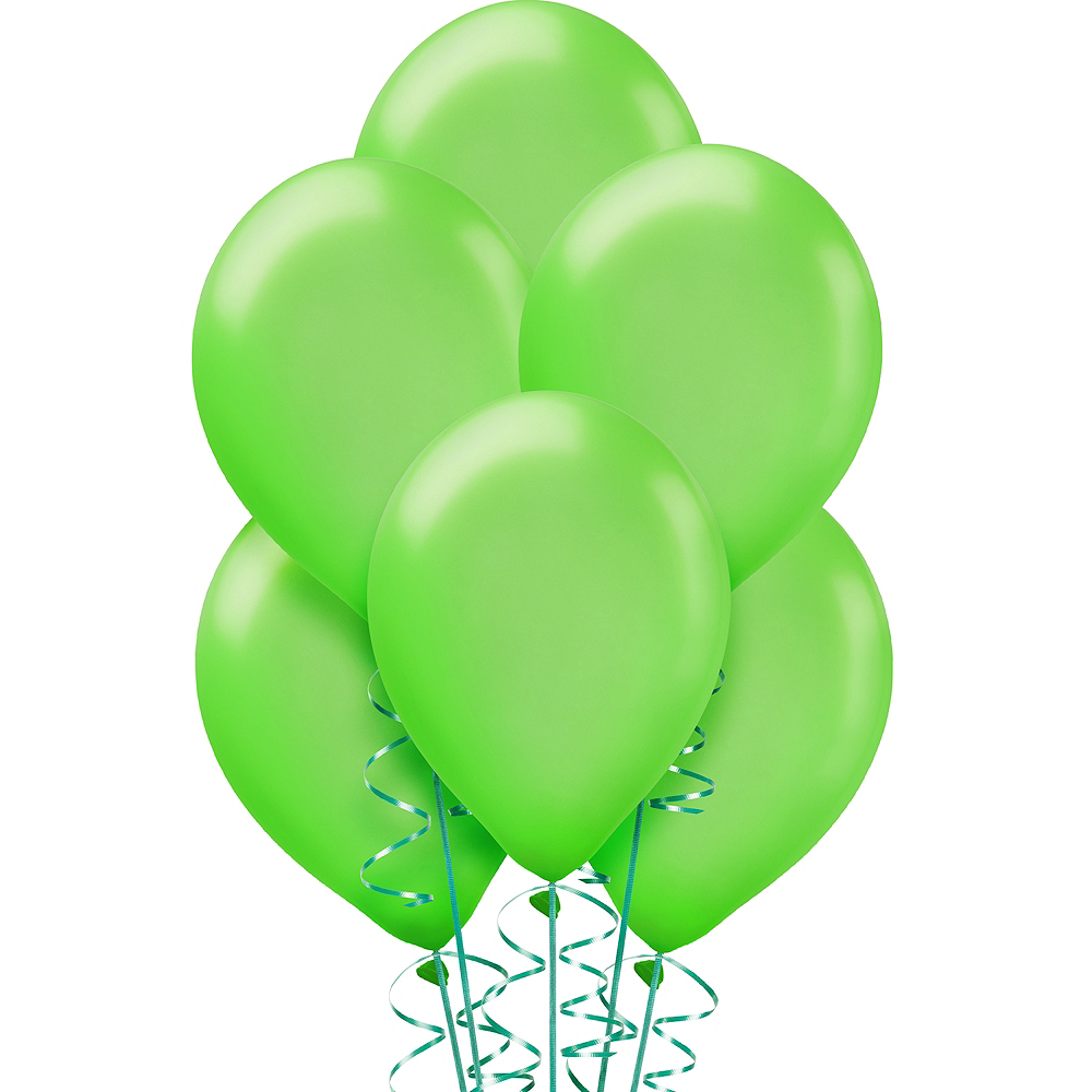 Kiwi Green Pearl Balloons 15ct, 12in Image #1