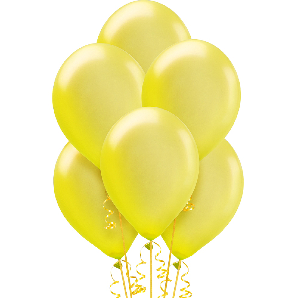 Yellow Pearl Balloons 15ct, 12in Image #1
