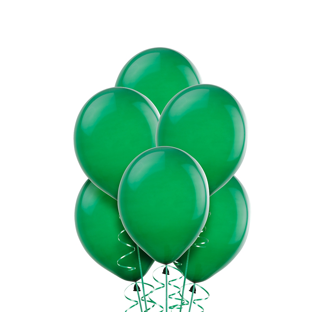 Festive Green Balloons 20ct, 9in Image #1