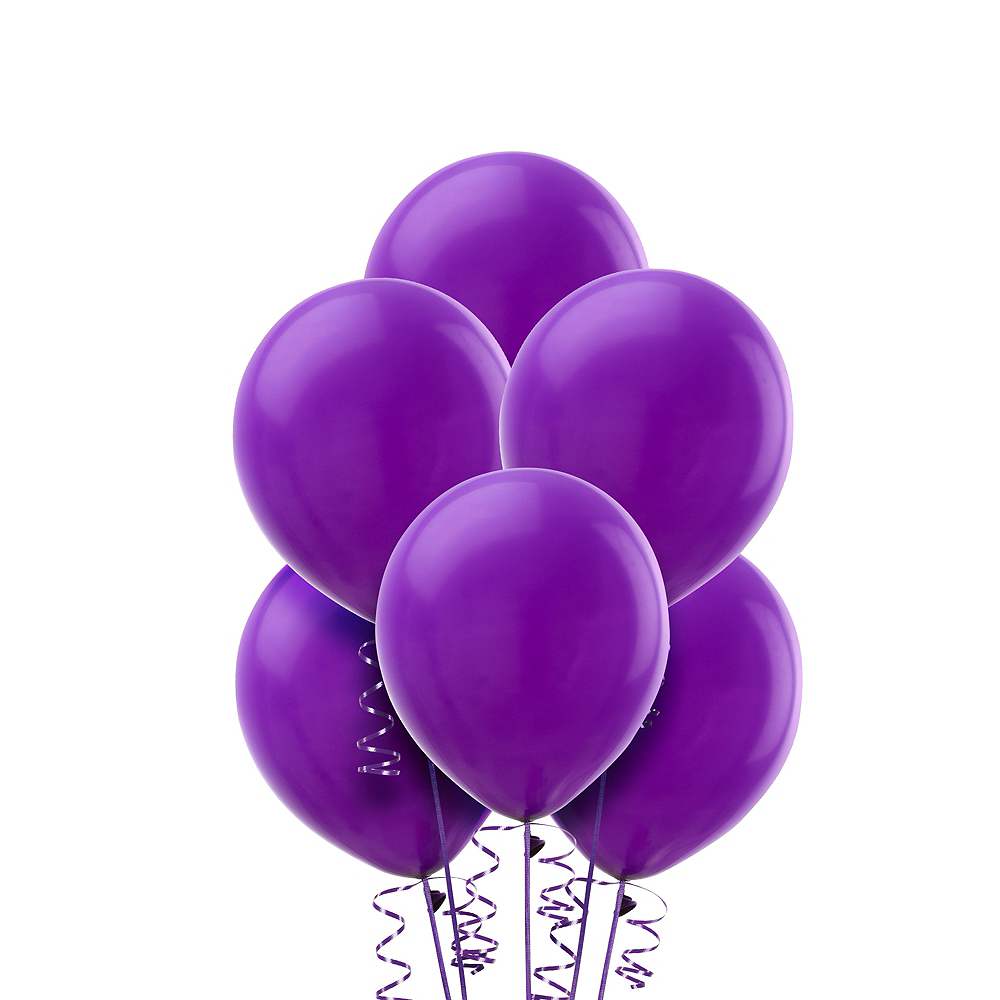 Nav Item for Purple Balloons 20ct, 9in Image #1