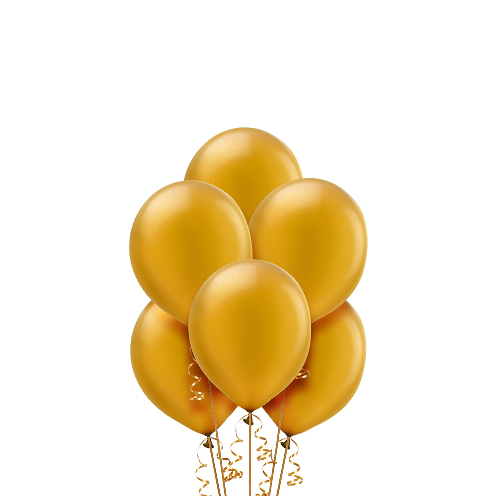 Nav Item for Gold Pearl Balloons 20ct Image #1