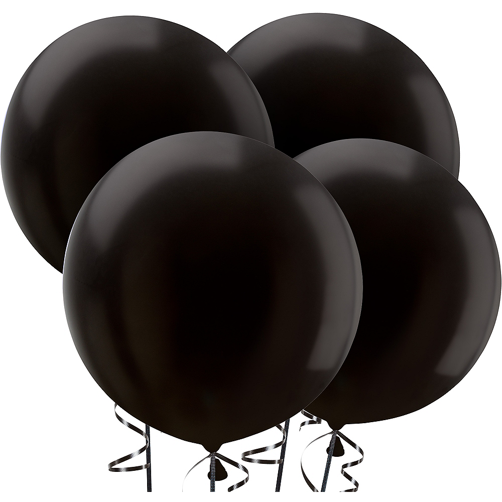 Black Balloons 4ct, 24in Image #1