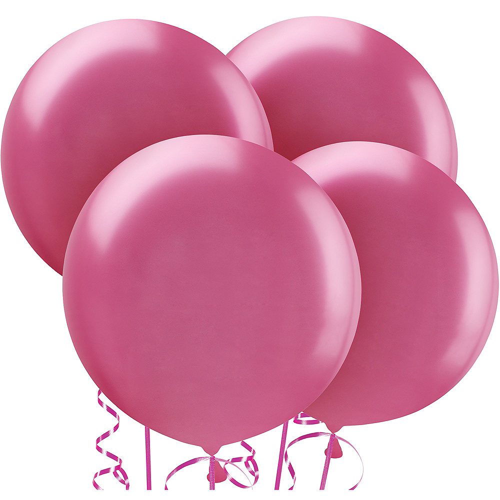 Bright Pink Balloons 4ct, 24in Image #1
