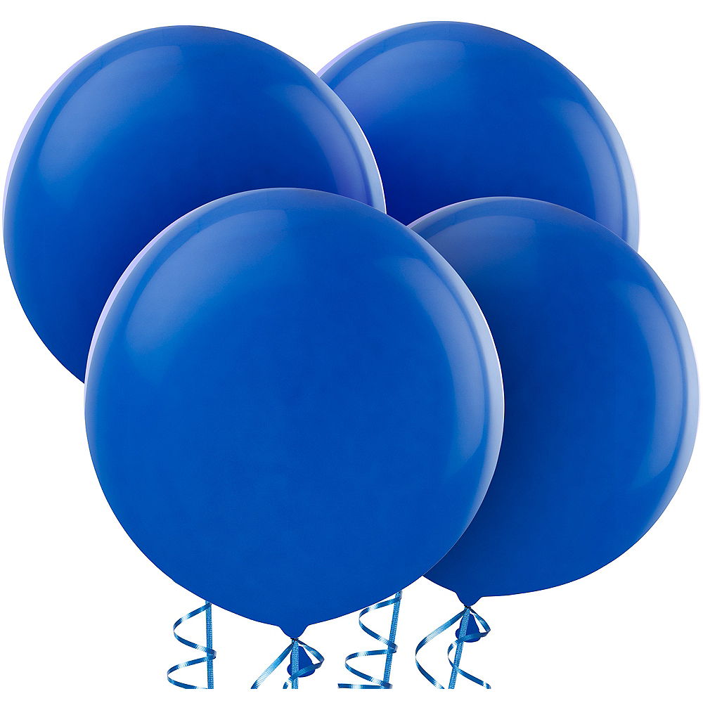 Royal Blue Balloons 4ct, 24in Image #1