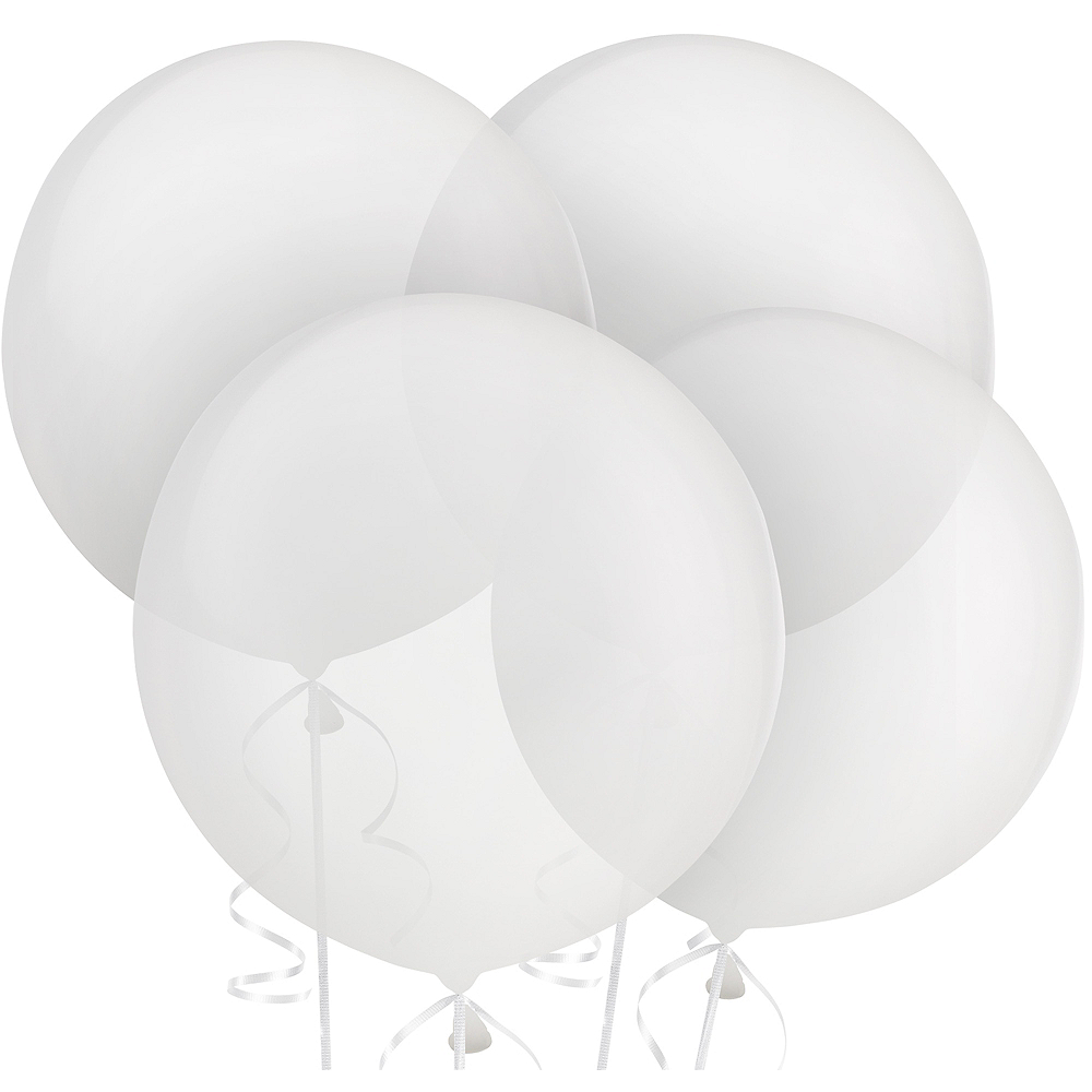 Clear Balloons 4ct, 24in Image #1
