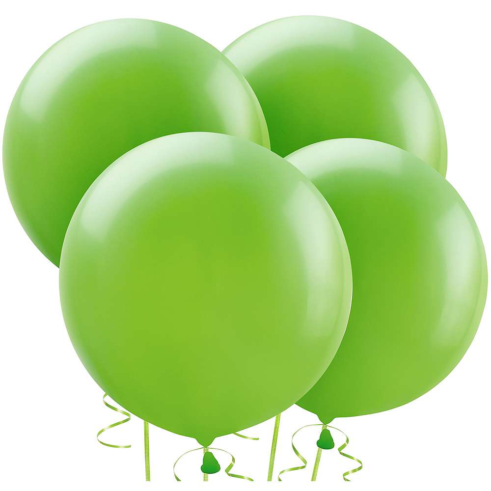 Kiwi Green Balloons 4ct, 24in Image #1