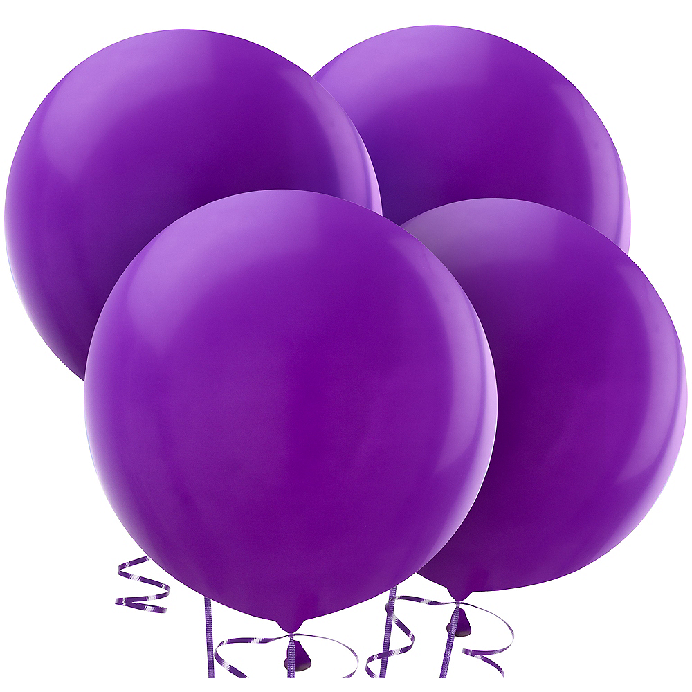 Purple Balloons 4ct, 24in Image #1