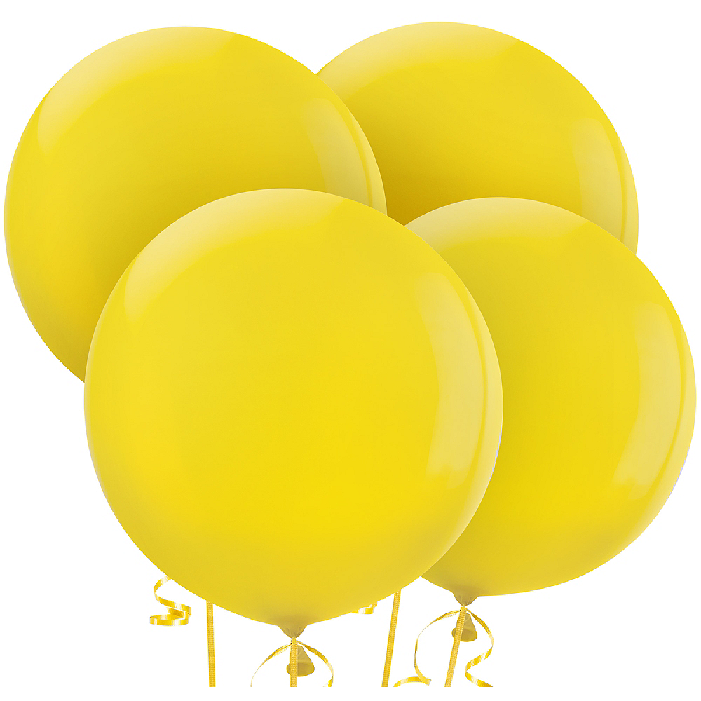 Nav Item for Yellow Balloons 4ct, 24in Image #1