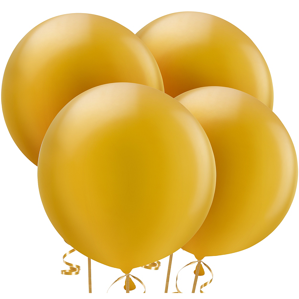 Gold Pearl Balloons 4ct, 24in Image #1