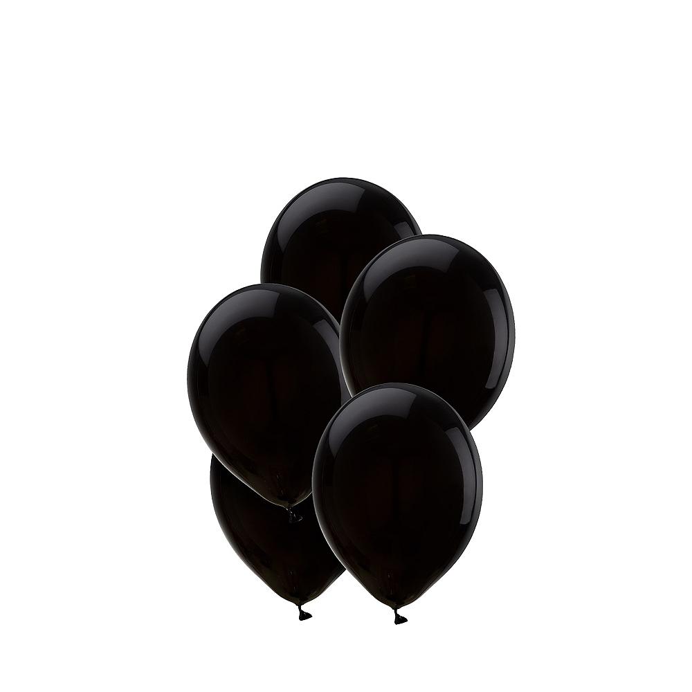 Black Mini Balloons 50ct, 5in Image #1