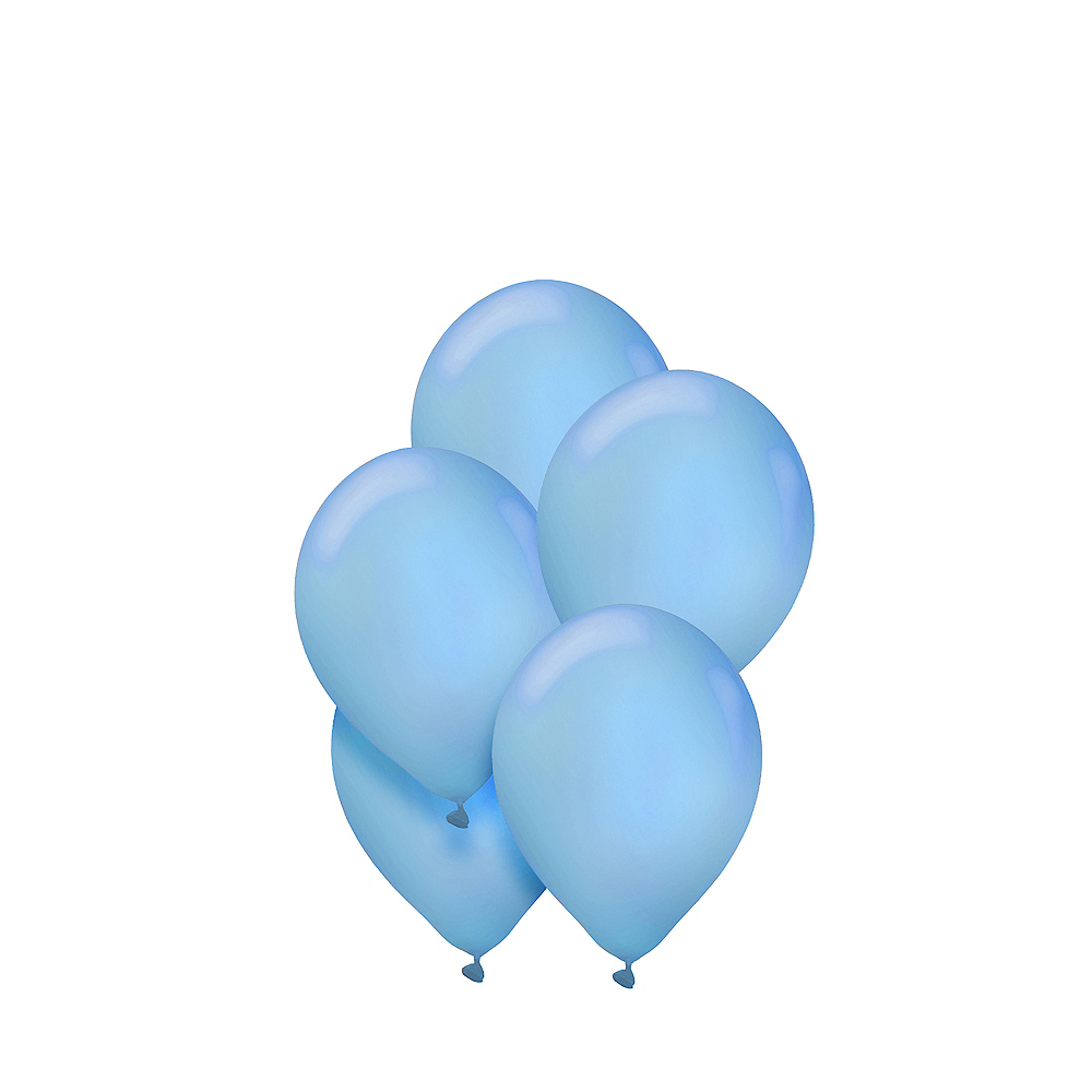 Caribbean Blue Mini Balloons 50ct, 5in Image #1