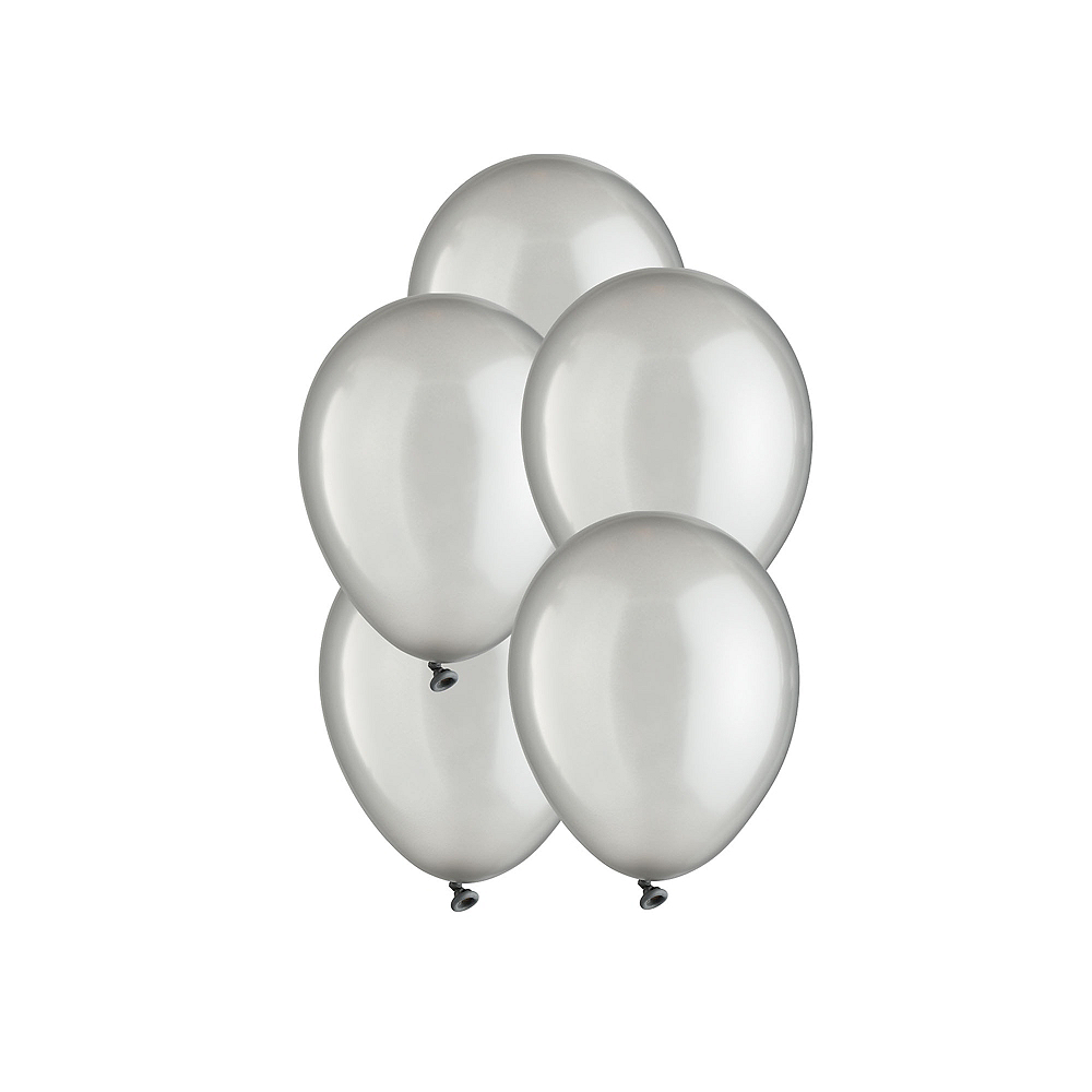 Silver Pearl Mini Balloons 50ct, 5in Image #1