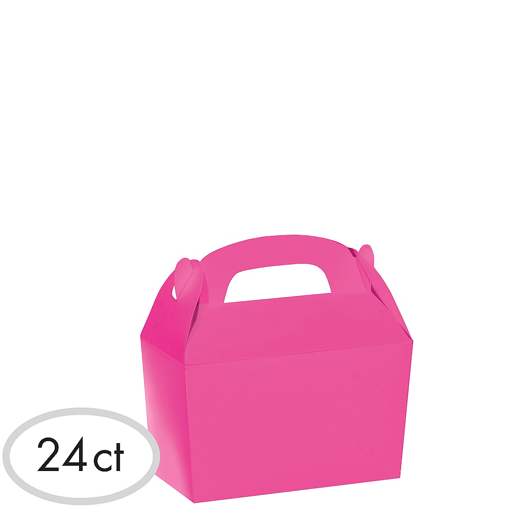 Bright Pink Gable Boxes 24ct Image #1