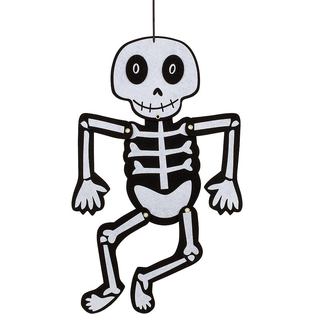 Jointed Felt Skeleton Image #1