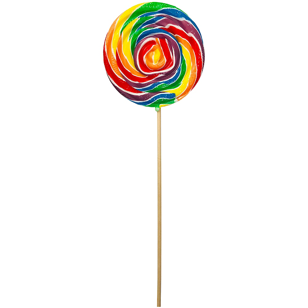 Swirly Rainbow Lollipop Image #1