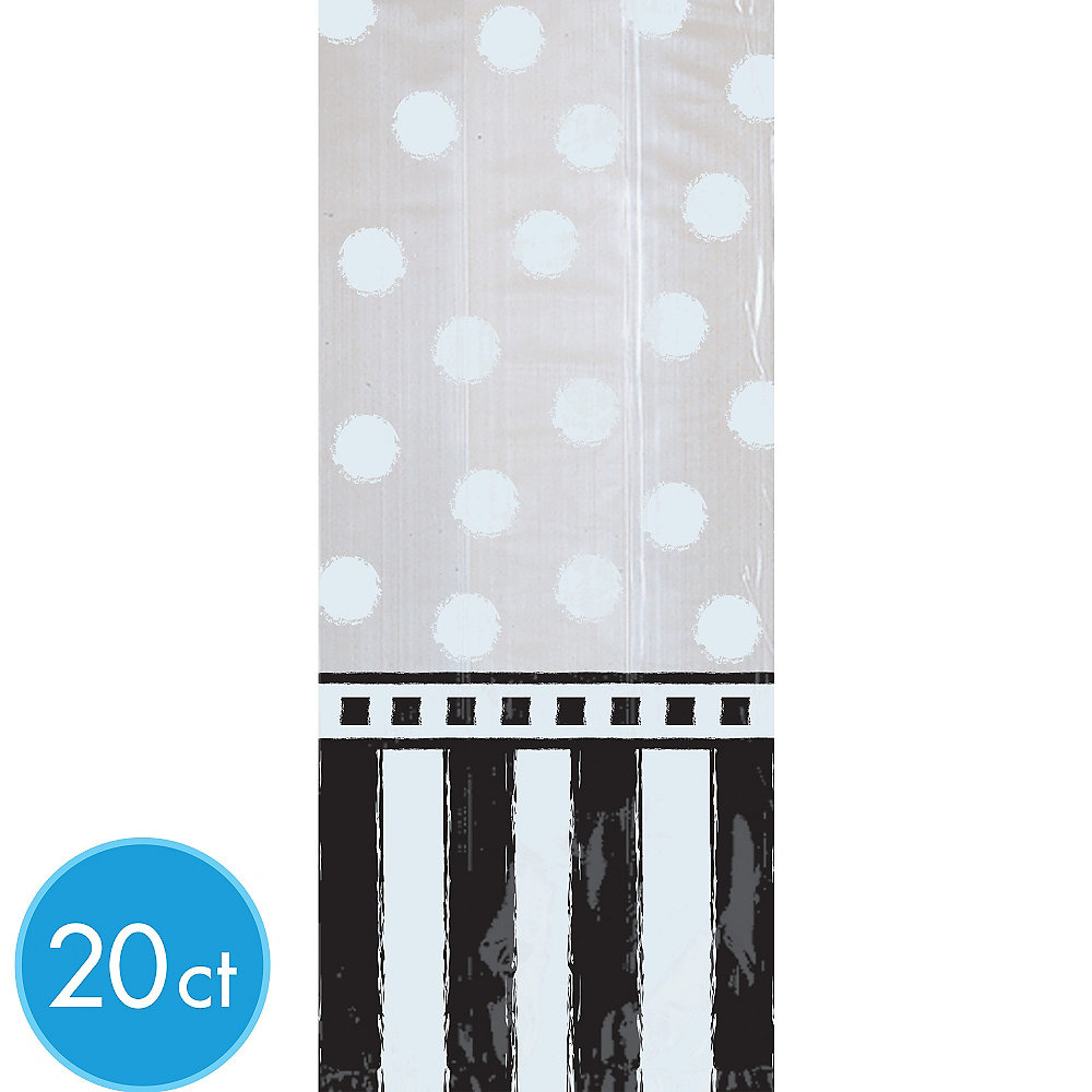 Black & White Treat Bags 20ct Image #1