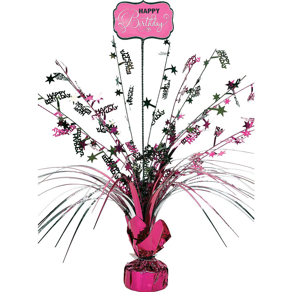Black & Pink Birthday Spray Centerpiece Image #1