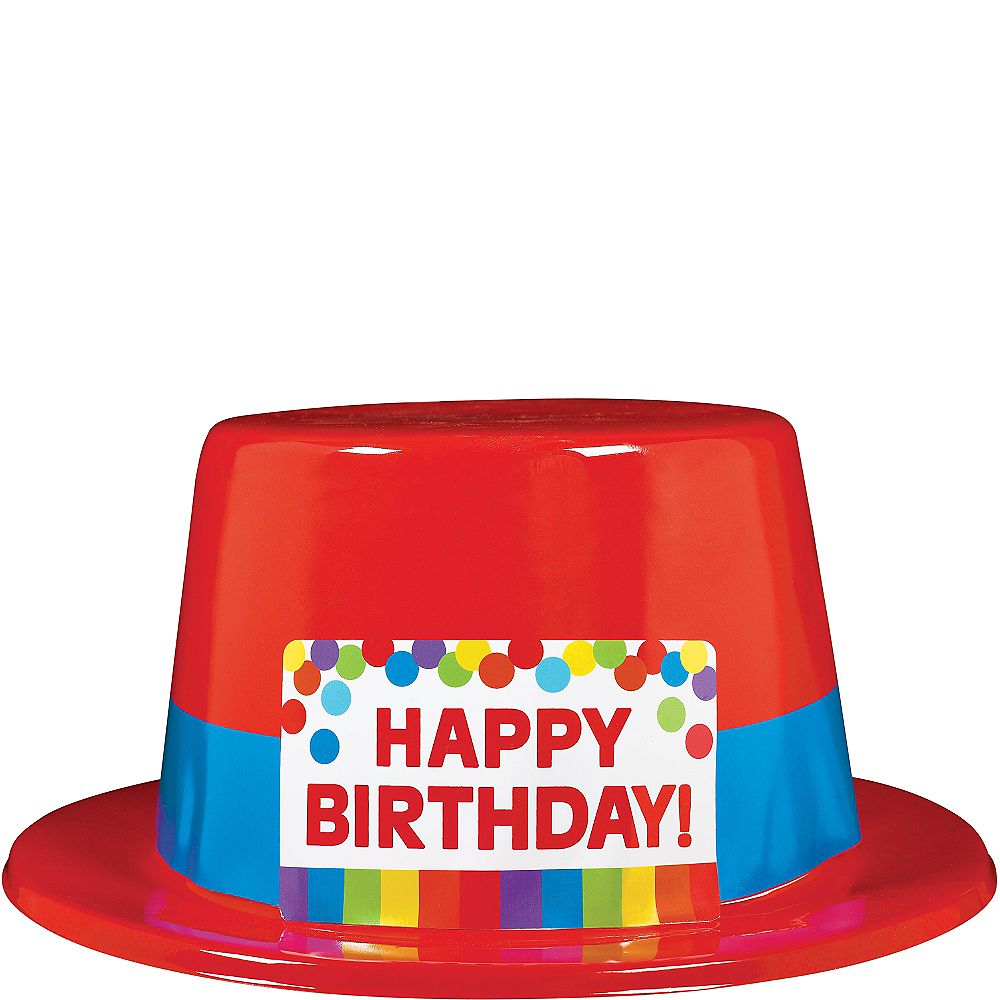 Rainbow Birthday Top Hat 5in Party City