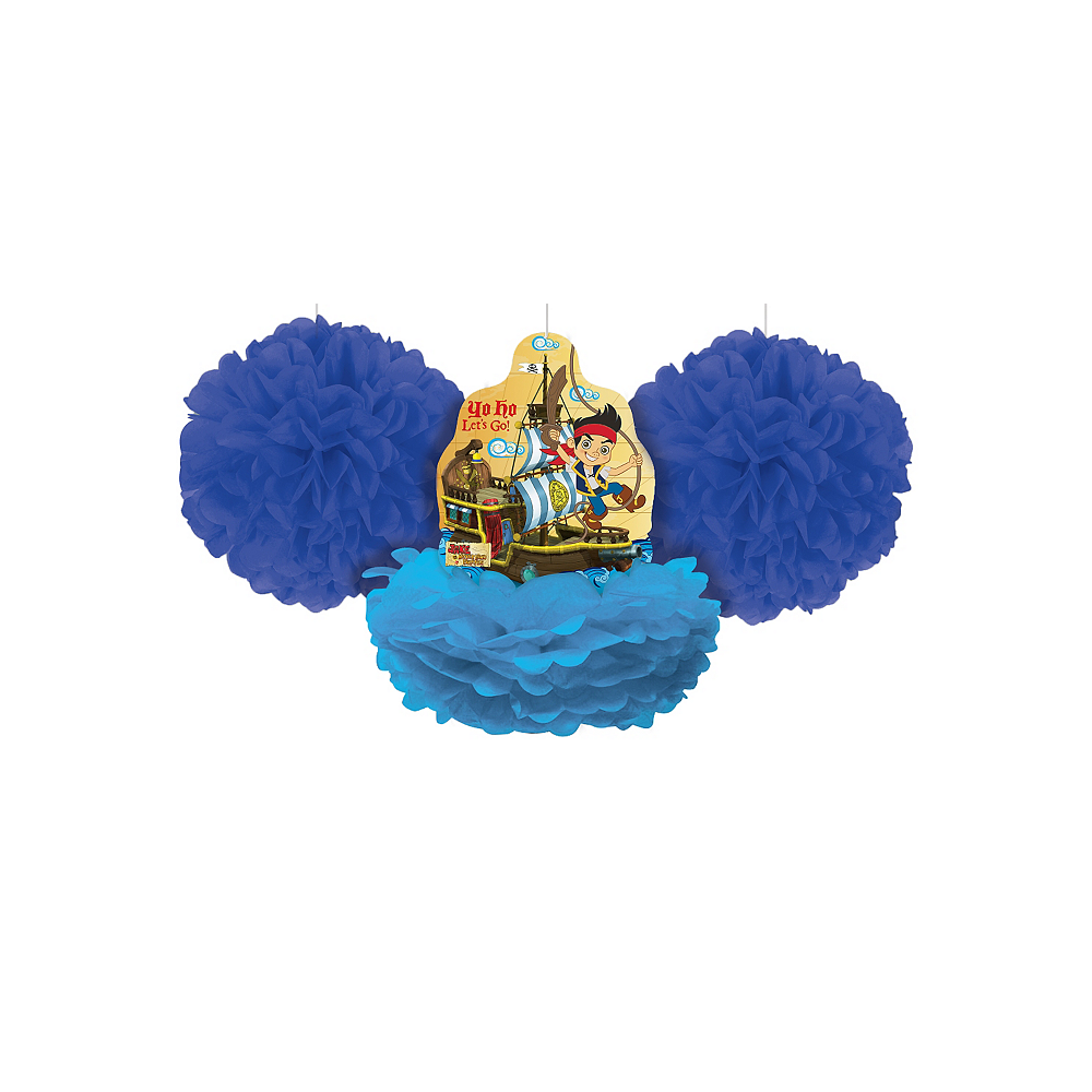 Jake and the Never Land Pirates Tissue Pom Poms 3ct Image #1