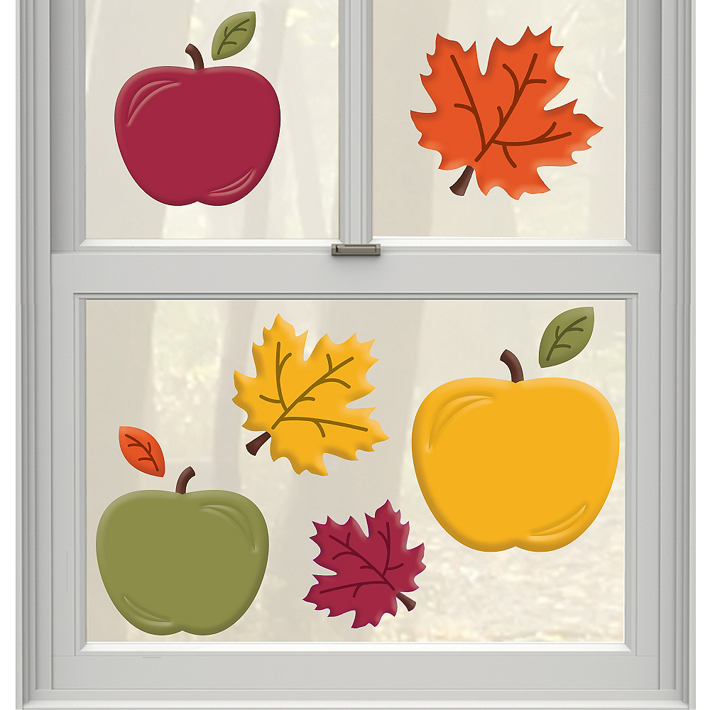 Fall Apples Gel Cling Decals 9ct Image #1