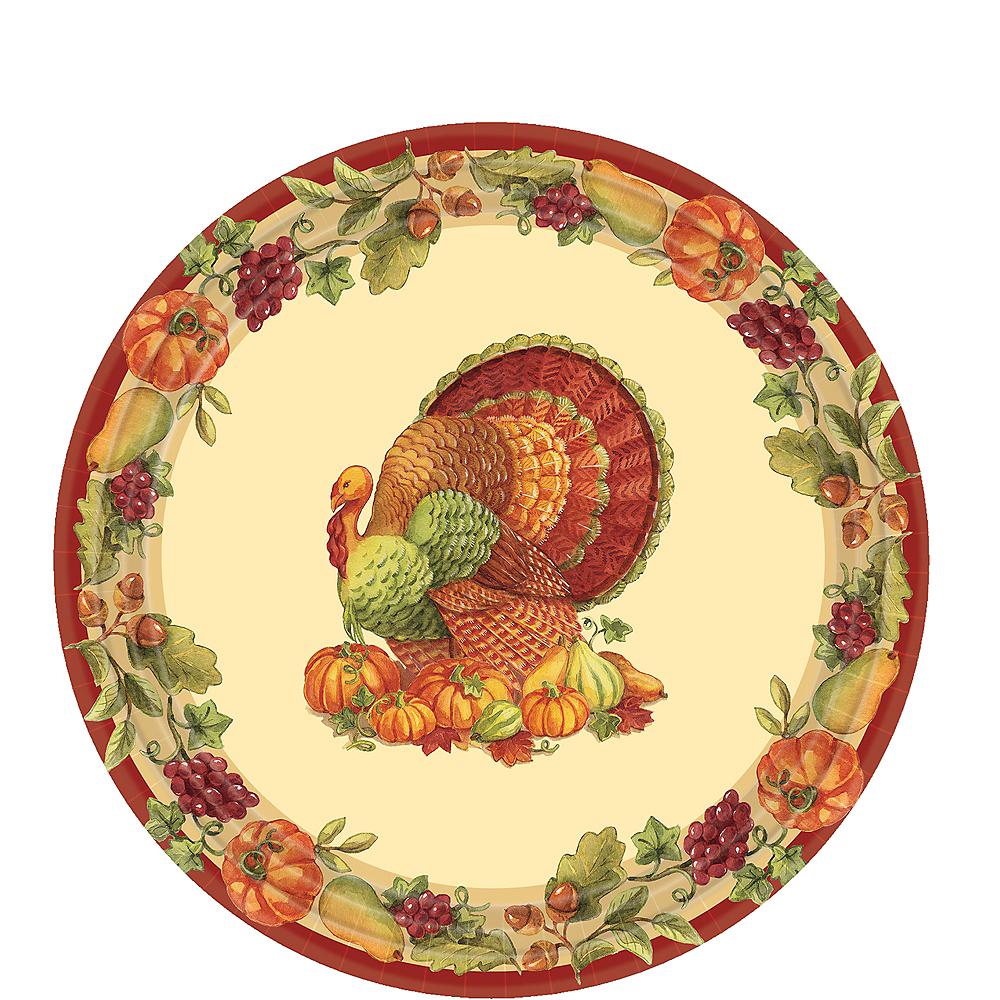 Joyful Thanksgiving Dessert Plates 60ct Image #1