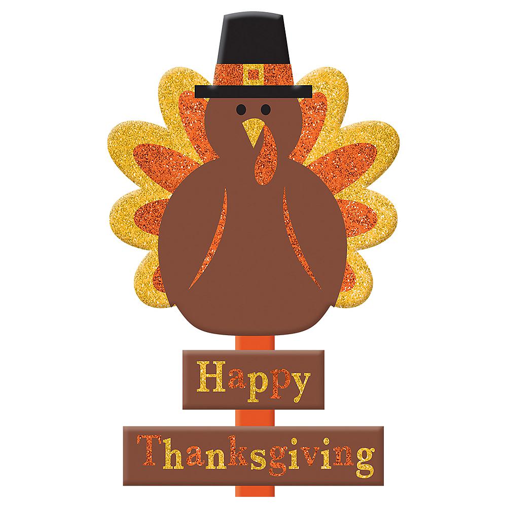Glitter Thanksgiving Turkey Yard Stake Image #2