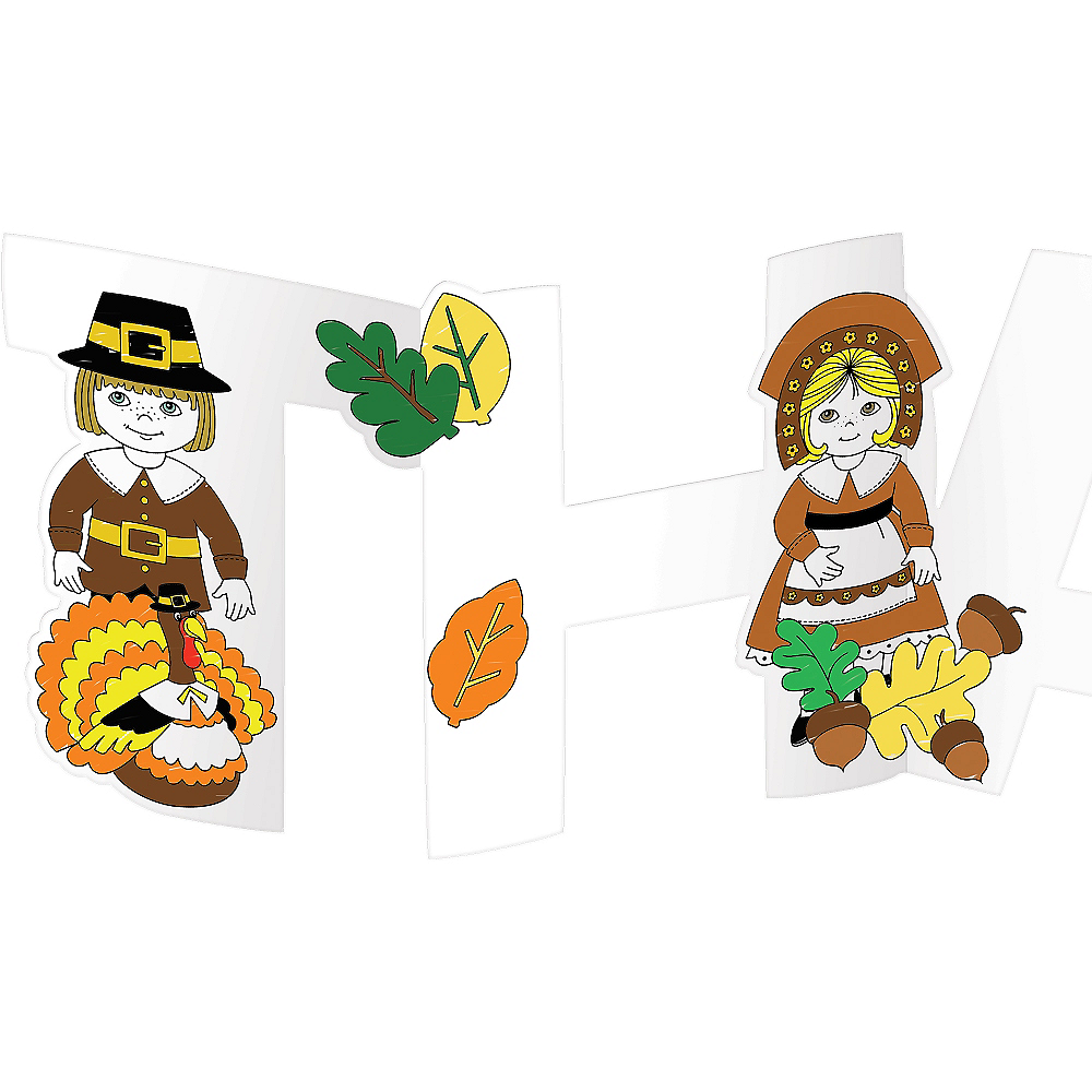 Color Your Own Thanksgiving Centerpieces 4ct Image #2