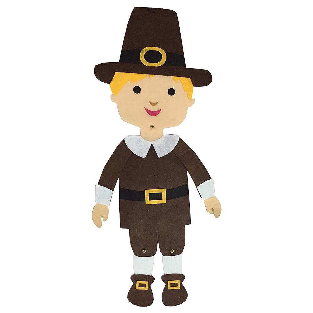 Jointed Felt Pilgrim Boy Image #1