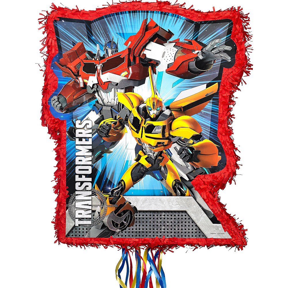 Pull String Red Transformers Pinata Image #1
