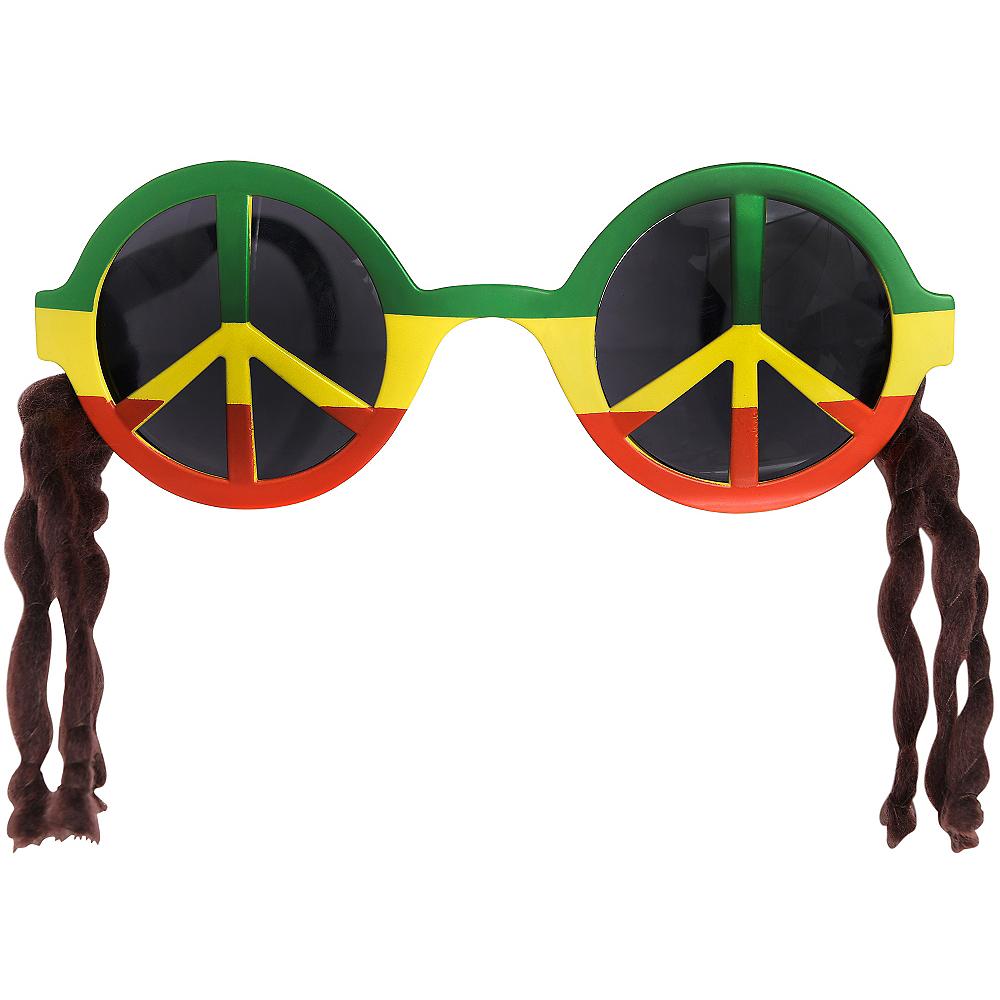 Peace Sign Rasta Sunglasses Image #1