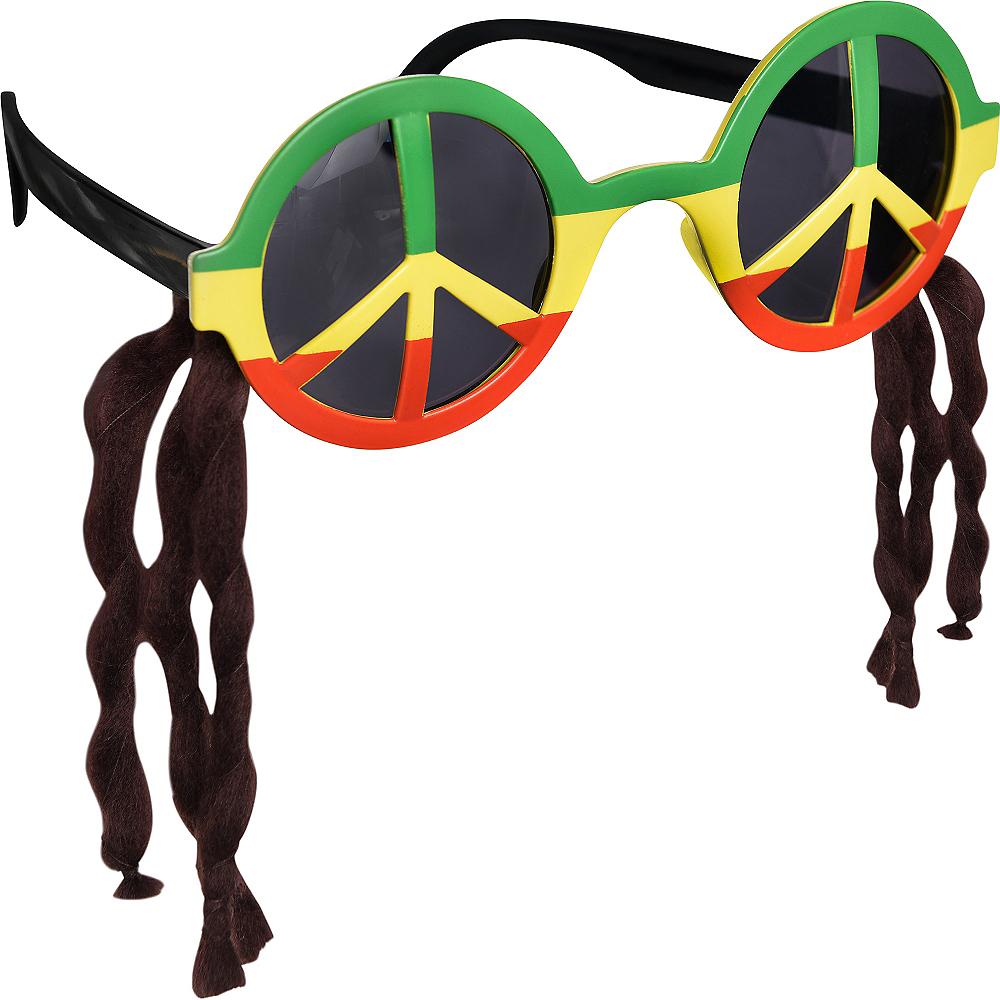 Peace Sign Rasta Sunglasses Image #2