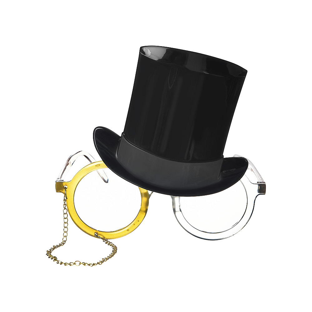 Top Hat & Monocle Glasses Image #1