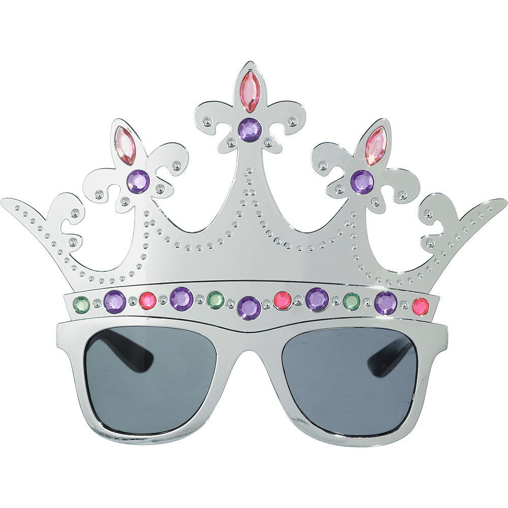 Nav Item for Queen Silver Crown Sunglasses Image #1