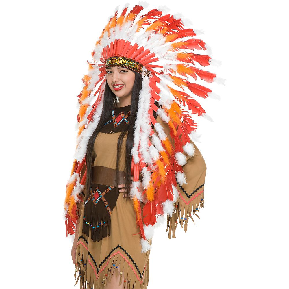 Red & Orange Western Headdress Image #2