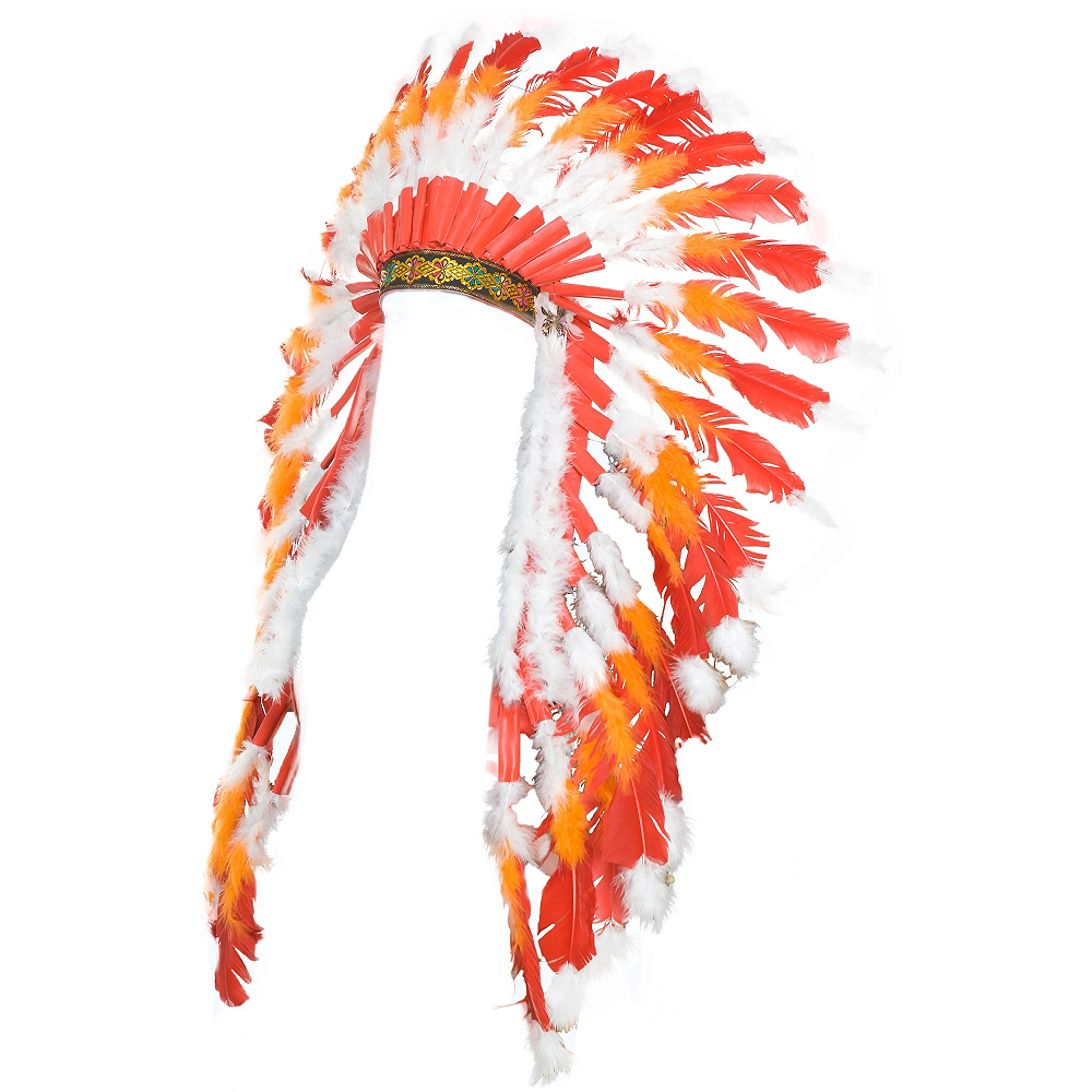 Red & Orange Western Headdress Image #3