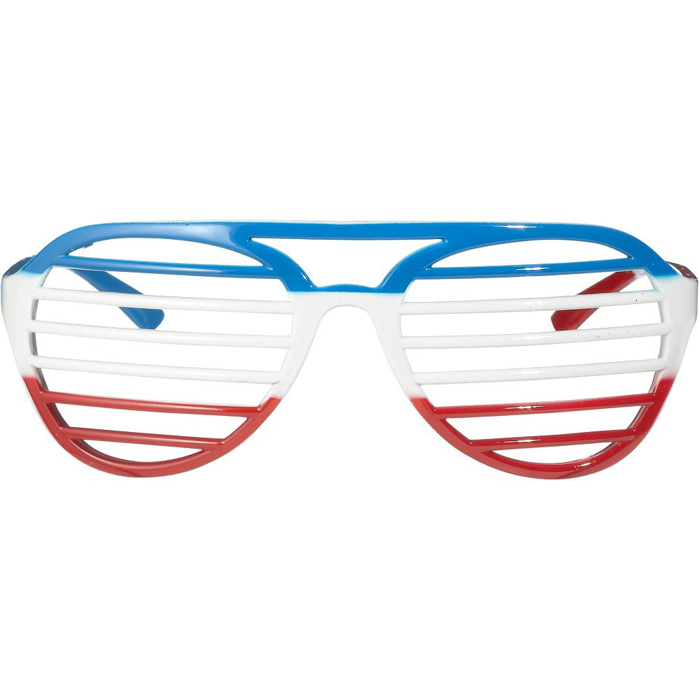 Red, White & Blue Shutter Glasses Image #1