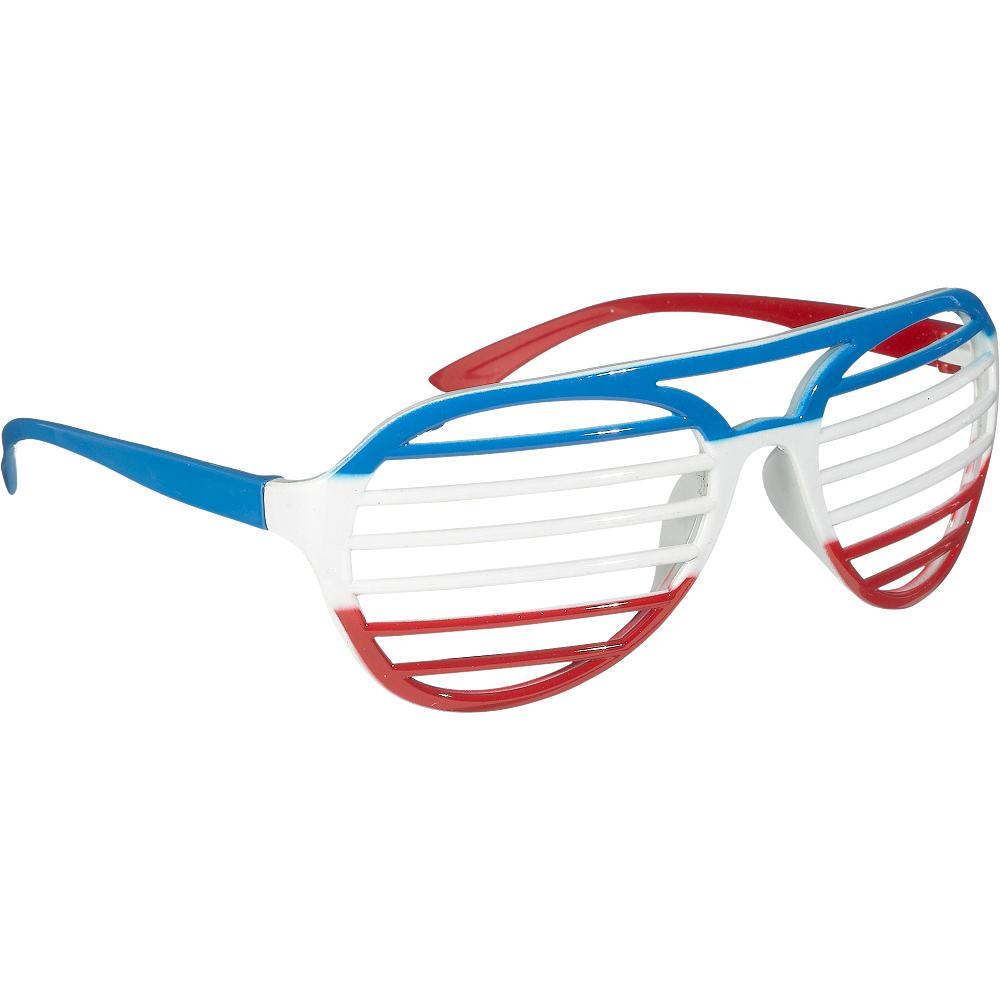 Red, White & Blue Shutter Glasses Image #2