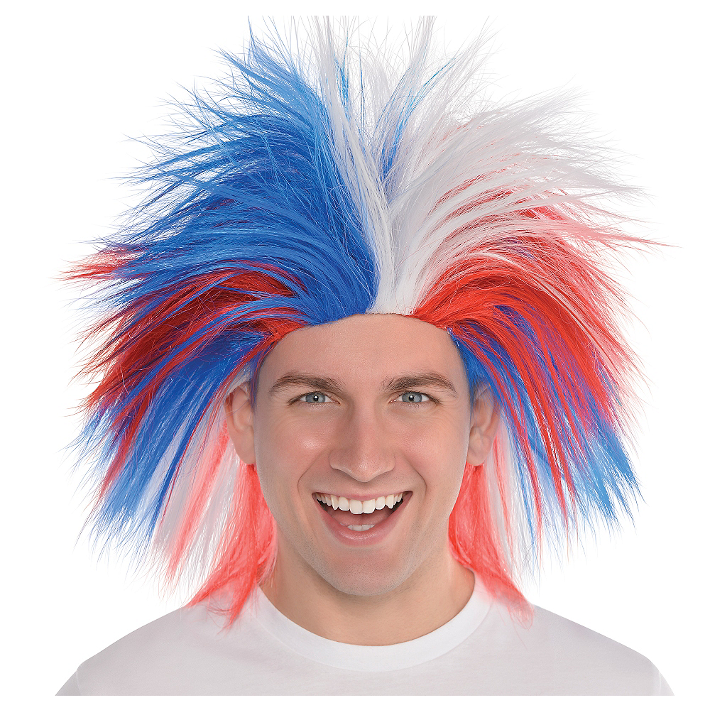 Red, White & Blue Crazy Wig Image #1