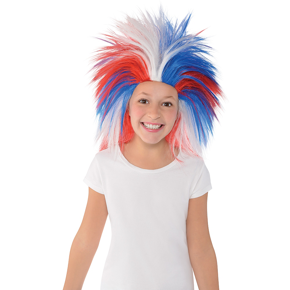 Red, White & Blue Crazy Wig Image #2